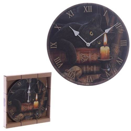 PUCKATOR Witching Hour Mgico Cat Lisa Parker Diseo Reloj de Pared