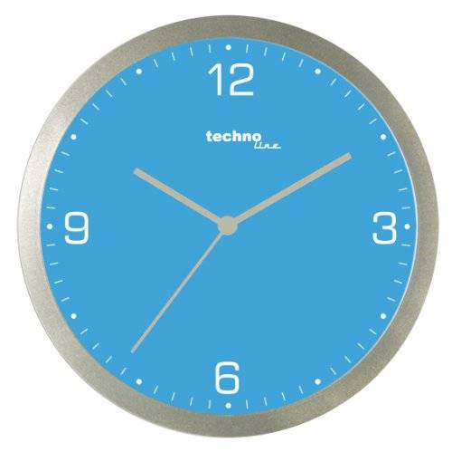 Technoline Wt 9000 - Reloj de Pared de Cuarzo, color azul