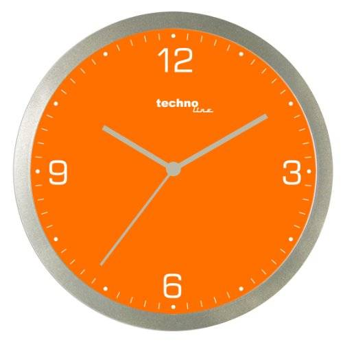 Technoline Wt 9000 - Reloj de Pared de Cuarzo, color naranja