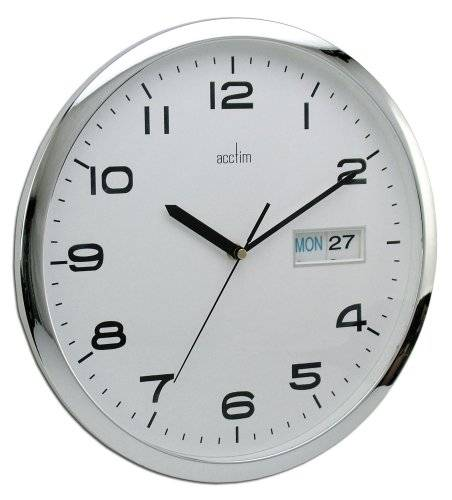 Acctim Supervisor Reloj de pared con calendario 33 cm