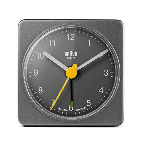 Braun - Reloj despertador, color gris