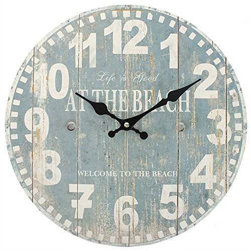 Something Different Nautical Clock 'at the beach' 34cm