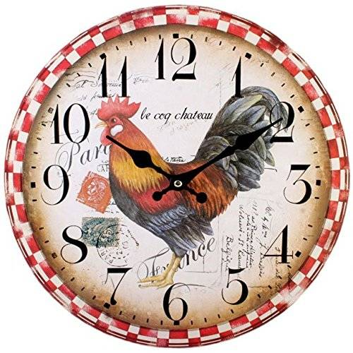 Jones Home & Gift Jones Home and Gift - Reloj, diseño de gallo, multicolor