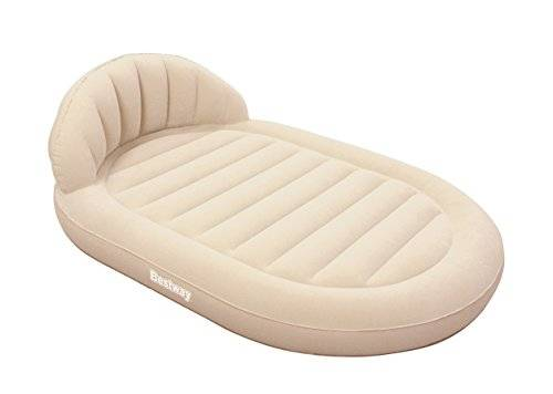 Bestway Royal Round Air Bed Queen - Cama de aire con respaldo, 215 x 152 x 60 cm