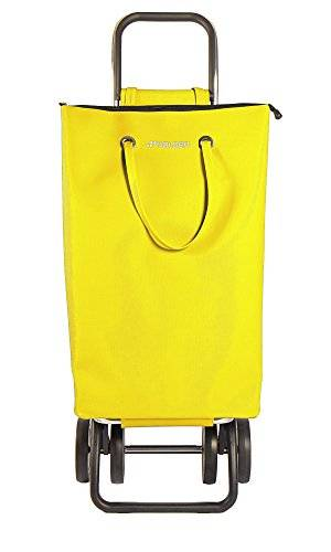 Rolser SuperBag Logic DOS+2 - Carro de compra de 4 ruedas, plegable, color amarillo
