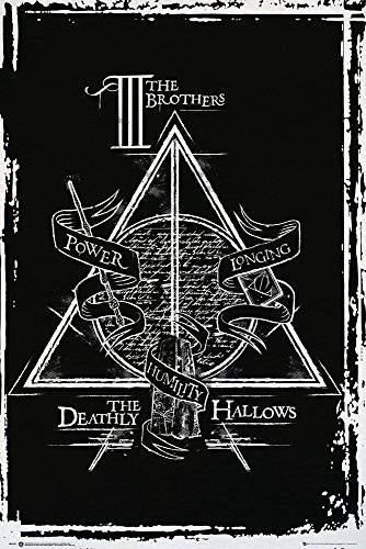 GB Eye Limited GB Eye Ltd, Harry Potter, Deathly Hallows Graphic, Maxi Poster, (61x91,5 cm)