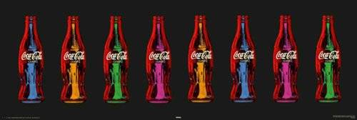 Empire Coca Cola Pop Art - Póster de botellas de Coca Cola con marco