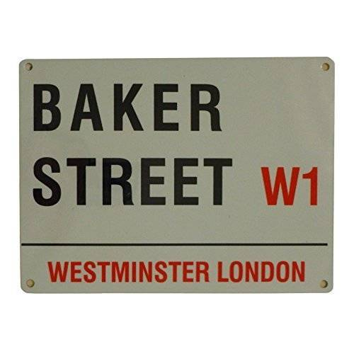 Original London Street Signs Placa de acero decorativa (20 x 15 cm), diseño de Baker Street W1 de Londres