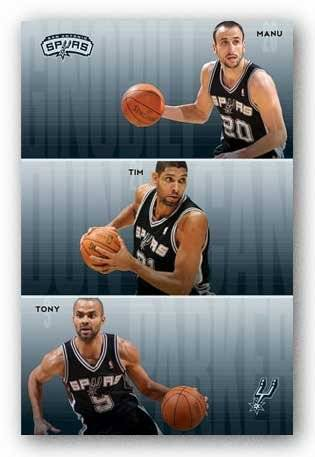 Trends International San Antonio Spurs – Equipo 2011 NBA (Manu Ginobili Tim Duncan Tony Parker) Art Print Póster