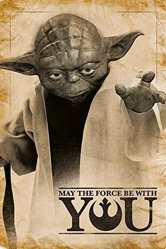 Pyramid intl Poster Star Wars - Yoda May The Force be With You 61x92cm - 5050574336901
