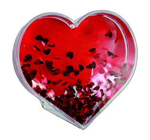 OUT OF THE BLUE Stylish acrylic photo frame with heart - shaped