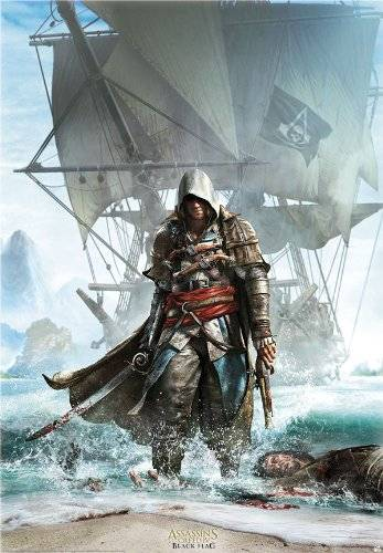 AbyStyle - Poster - Assassins Creed - Edward débarquant 98x68cm - 3700789202295