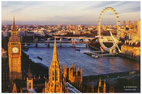 1art1® 1art1 37980 Londres - Póster de London Eye y Westminster Bridge (91 x 61 cm)