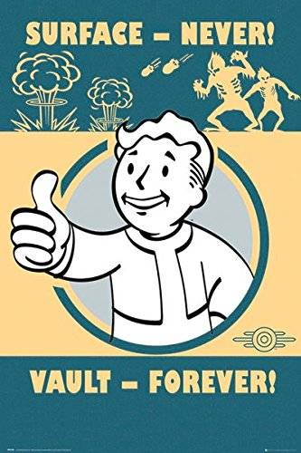 Fallout GB Eye, Fallout 4, Vault Forever, Maxi Poster, 61 x 91,5 cm