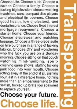 GB Eye Maxi Poster Trainspotting Quotes 1
