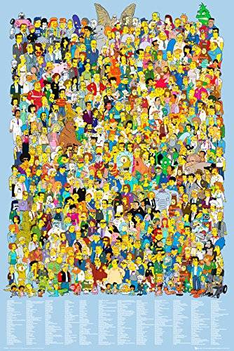 EuroPosters GB eye LTD, The Simpsons, Cast 2012, Maxi Poster, 61 x 91,5 cm