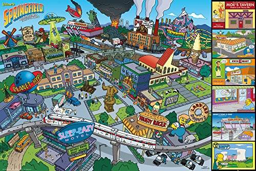 The Simpsons GB eye LTD, The Simpsons, Locations, Maxi Poster, 61 x 91,5 cm