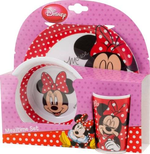 BBS GO ON - Vajilla infantil, 3 piezas, estampada Oh Minnie