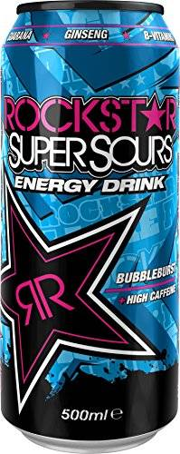 Rockstar Energy Drink Súper Sours Bubbleburst 500ml (paquete de 12 x 500 ml)