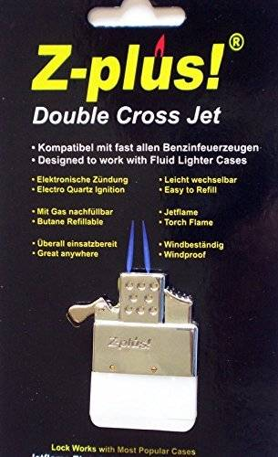 Plus-z Z-Plus Double Twin Cross Jet Torch flame Replacement Insert For Petrol Lighters by z-plus