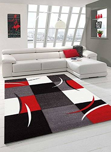 Chic Orange Alfombra Daemon / Modern Rojo 160 x 230 cm