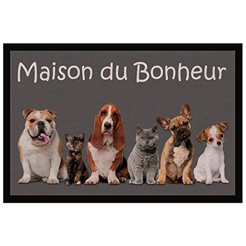 Tapis Déco  - 1740317, Tapete De Entrada Rectangulo , 40 X 60 Cm , Family , Photoprint , Gris