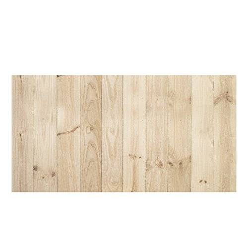 Decowood DCW05 Cabecero Antiguo Recto Vertical, Madera, Natural, 150x3x80 cm