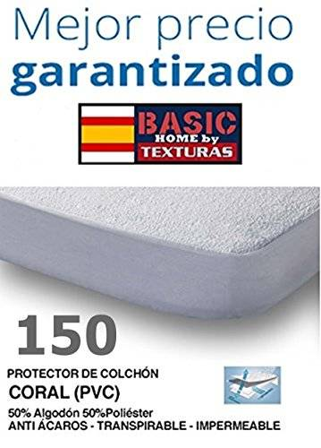 D BASIC HOME Protector de Colchón CORALINA Impermeable y Transpirable 150X190/200+23