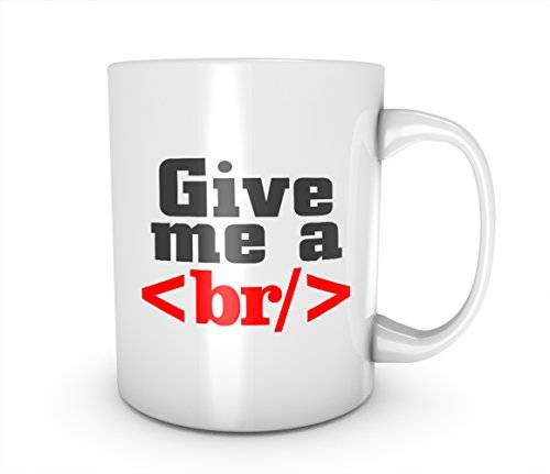 RiotBunny Give Me A Break Gracioso Coding Developer Taza de cerámica Café Té Mug