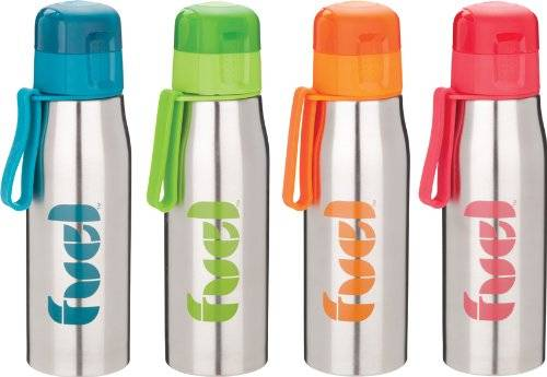 Trudeau Botella 500 Ml Con Asa Modelo Stainless Steel Bottle, colores surtidos