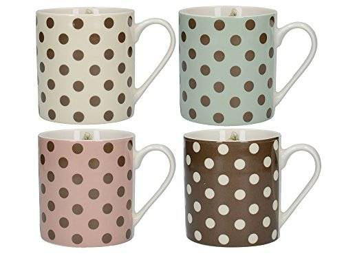Creative Katie Alice Cottage Flower Set of 4 Chunky Mugs