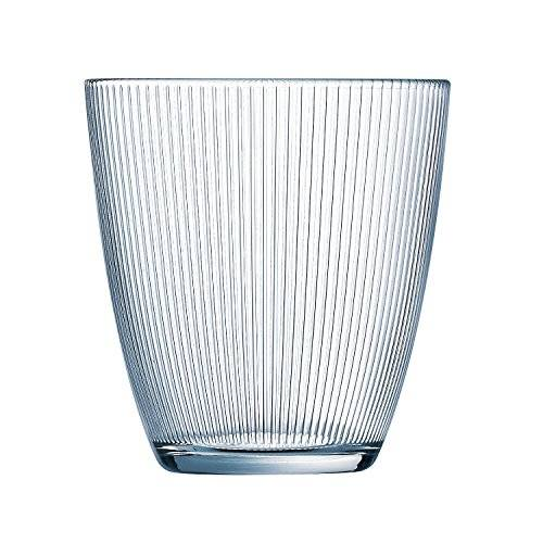 Luminarc Stripy - Set de 6 vasos bajos, de 25 cl