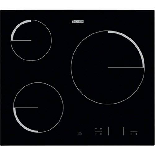 Zanussi - Placa vitrocerámica zev6330fba con control táctil easy touch