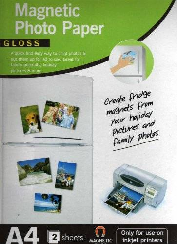 Gadgetsngifts 151 A4 Papel foto magnetico, papelería
