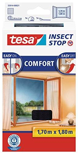 TESA Insect Stop Comfort - mosquito nets (141 g, 1700 x 10 x 1800 mm, ABS sintéticos, Plata, 454 g)
