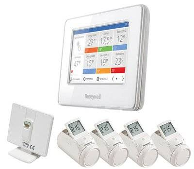 Honeywell PACK AHORRO TERMOSTATO WIFI Evohome connected pack + 4 termostatos de radiador HR92