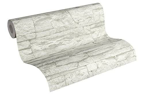 A.S. Creation A.S. Création papel pintado Wood'n Stone gris blanco 10,05 m x 0,53 m 707161