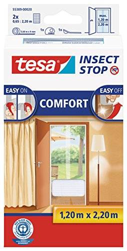 TESA Insect Stop Comfort - mosquiteras (ABS sintéticos, Color blanco, 2200 x 60 x 1200 mm)