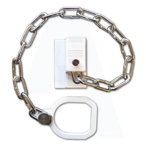 ASEC UPVC Door Chain Restrictor With Ring by Asec