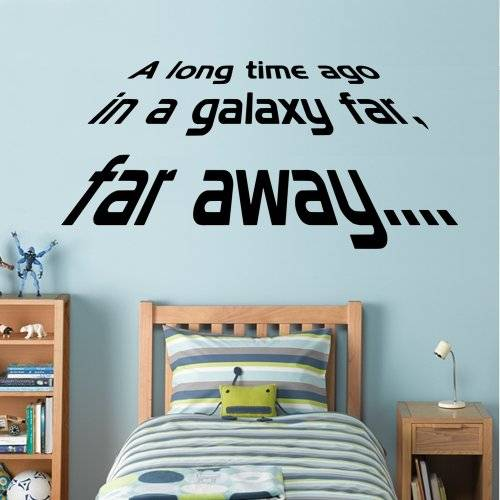 ART Star Wars - A long Time Ago - Wall Decal Art Sticker boy's bedroom playroom hall (Medium) by Wondrous Wall Art