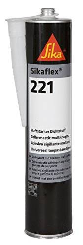 Part Sikaflex 221 de acero gris cartucho de 300 ml 1 K PU-sellador