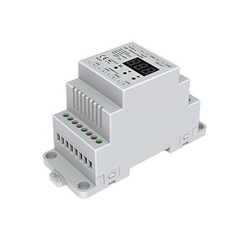 Nutbro 4 CH Constant Voltage DMX512 Decoder RGB/RGBW Controller Din Rail Mounted 4 Channel Dimming Controller 5-24VDC