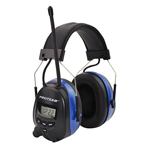 protear Bluetooth & Radio AM/FM Ear Protector Hearing Protection Safety Earmuffs with Digital Display for Working Mowing, Certified NRR–25dB...