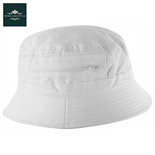 Work and Style Atlaua– Sombrero de pescador by Work and Style - Blanco, 60 cm