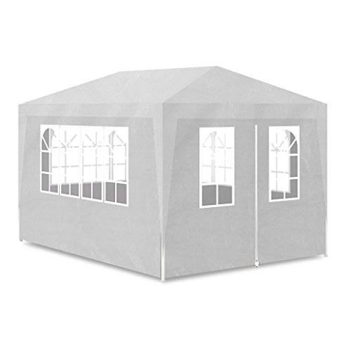 vidaXL Carpa para fiesta 3x4 4 pared blanco