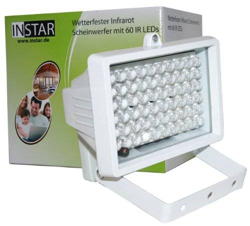 INSTAR IN-905 V2 - Foco de IR con 60 LEDs, color blanco