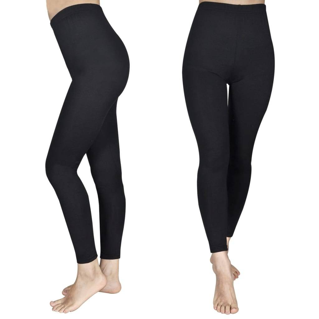vidaXL 2 leggings negros, tallas 110/116