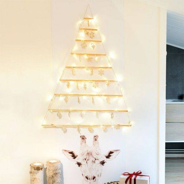 Eminza Árbol decorativo Blanco cálido 48 LED