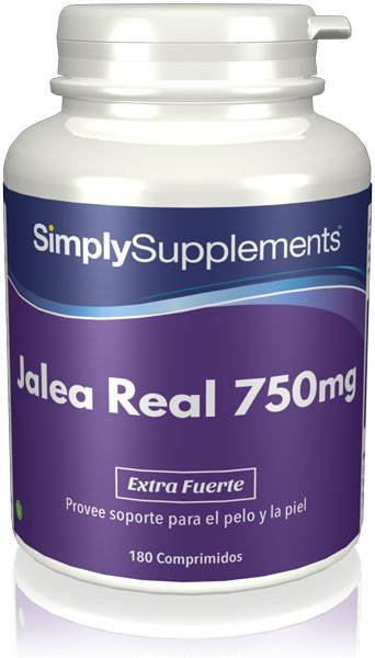 Simply Supplements Jalea Real 750 mg - 180 Comprimidos