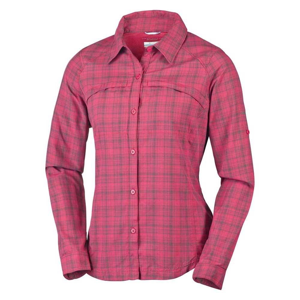 Columbia Silver Ridge Plaid L/s  Red Orchid Ripstop